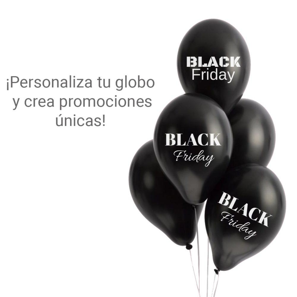Prepara una campaña publicitaria para el Black Friday con globos