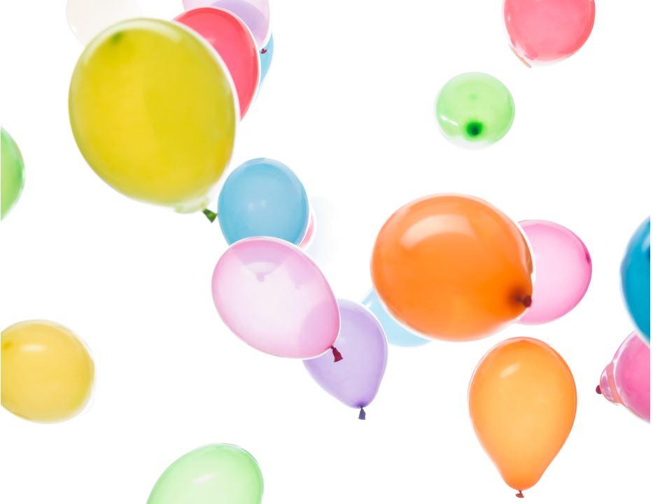 Lanzamiento de REBAJAS con globos personalizados